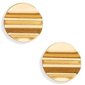 Madewell Vintage Gold Waves Disc Earrings
